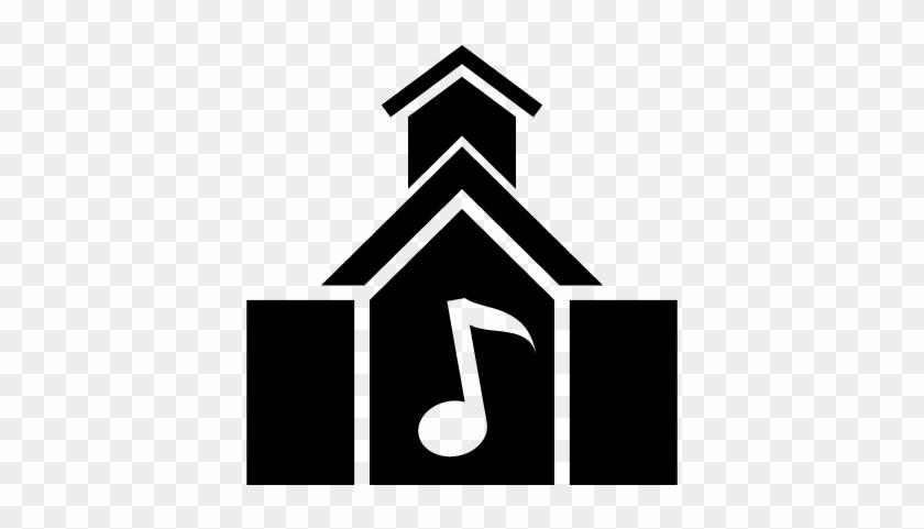 Music School Building Vector - Music School Icon Png #286564