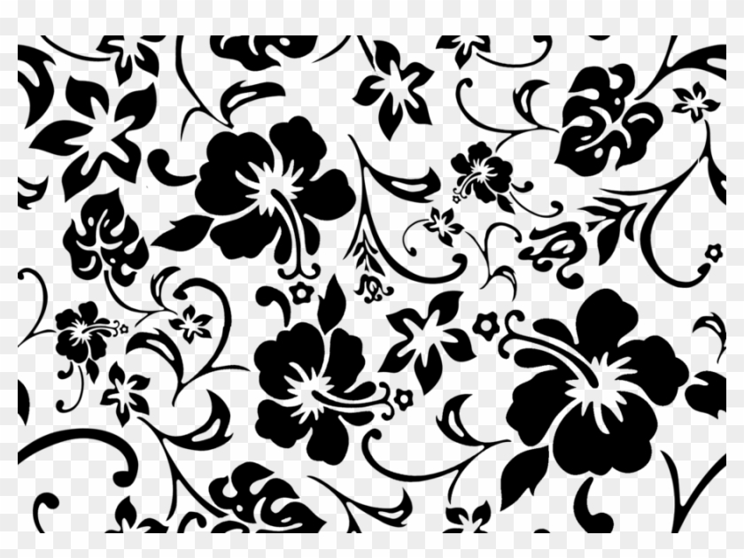 Hibiscus Tiled Background By Pints1ze