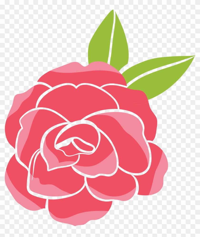 Garden Roses Beach Rose Cartoon Clip Art - Cartoon Rose Art