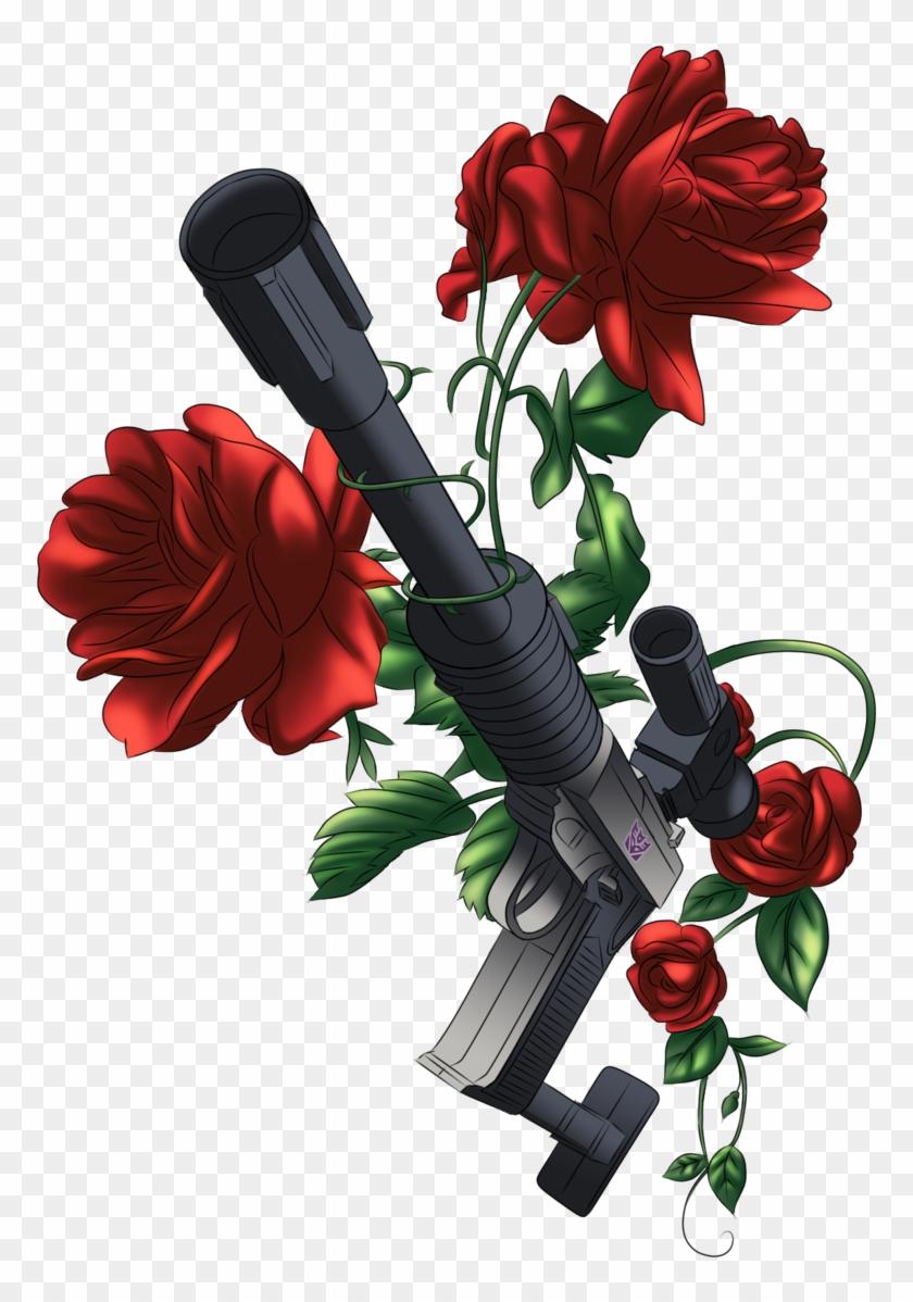 Guns - Guns With Roses Png #287111