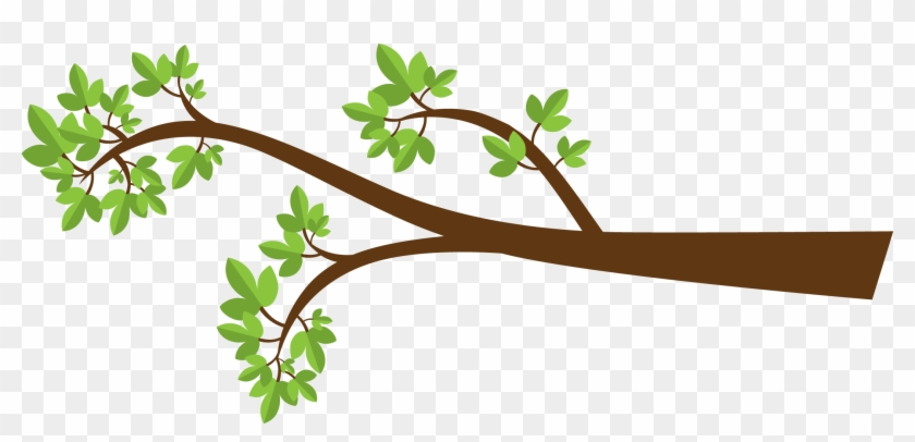 Spring Branch With Pink Flowers And Butterflies Png - Tree Branch Clipart #287245