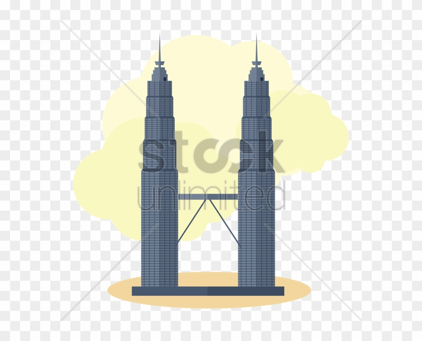 Petronas Twin Towers Vector Graphic Clipart - Petronas Twin Towers Illustration #287414