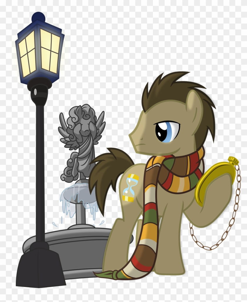 Doctor Hooves And Weeping Angel By Vector-brony - Doctor Who My Little Pony #287427