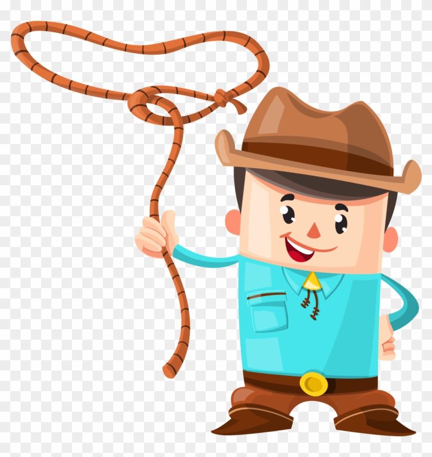 Cowboy Vector Png Image - Cowboy Vector #287466