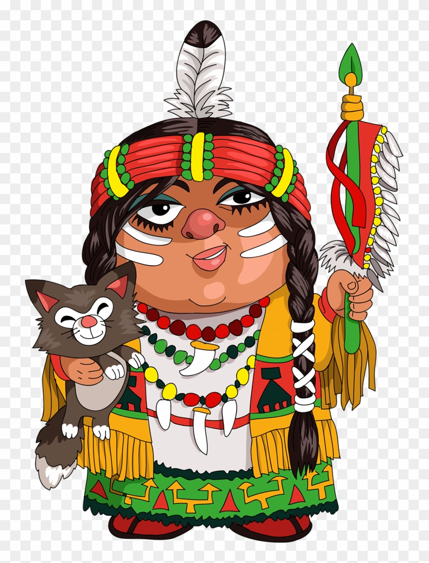 Clip Art - Indian Tribe Cartoon #287499
