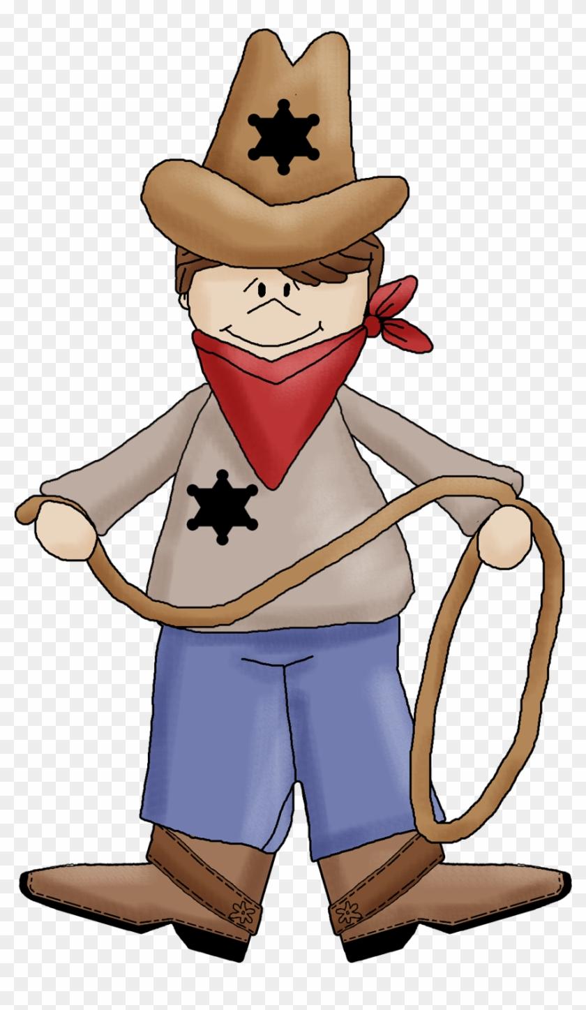 Funny Clipart Cowboy - Cartoon #287522