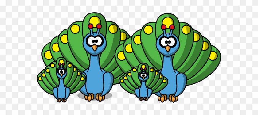 Cartoon Peacock Shower Curtain #287557
