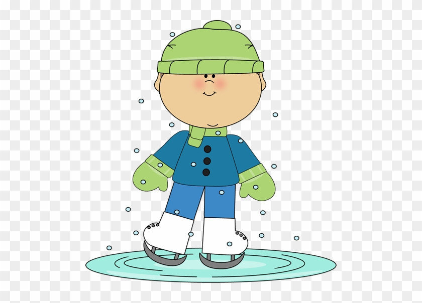 Little Boy Ice Skating - Winter Opinion Writing Prompts #287588