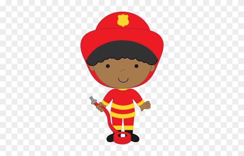Profissões - Minus - Firefighter Girl Clipart #287652