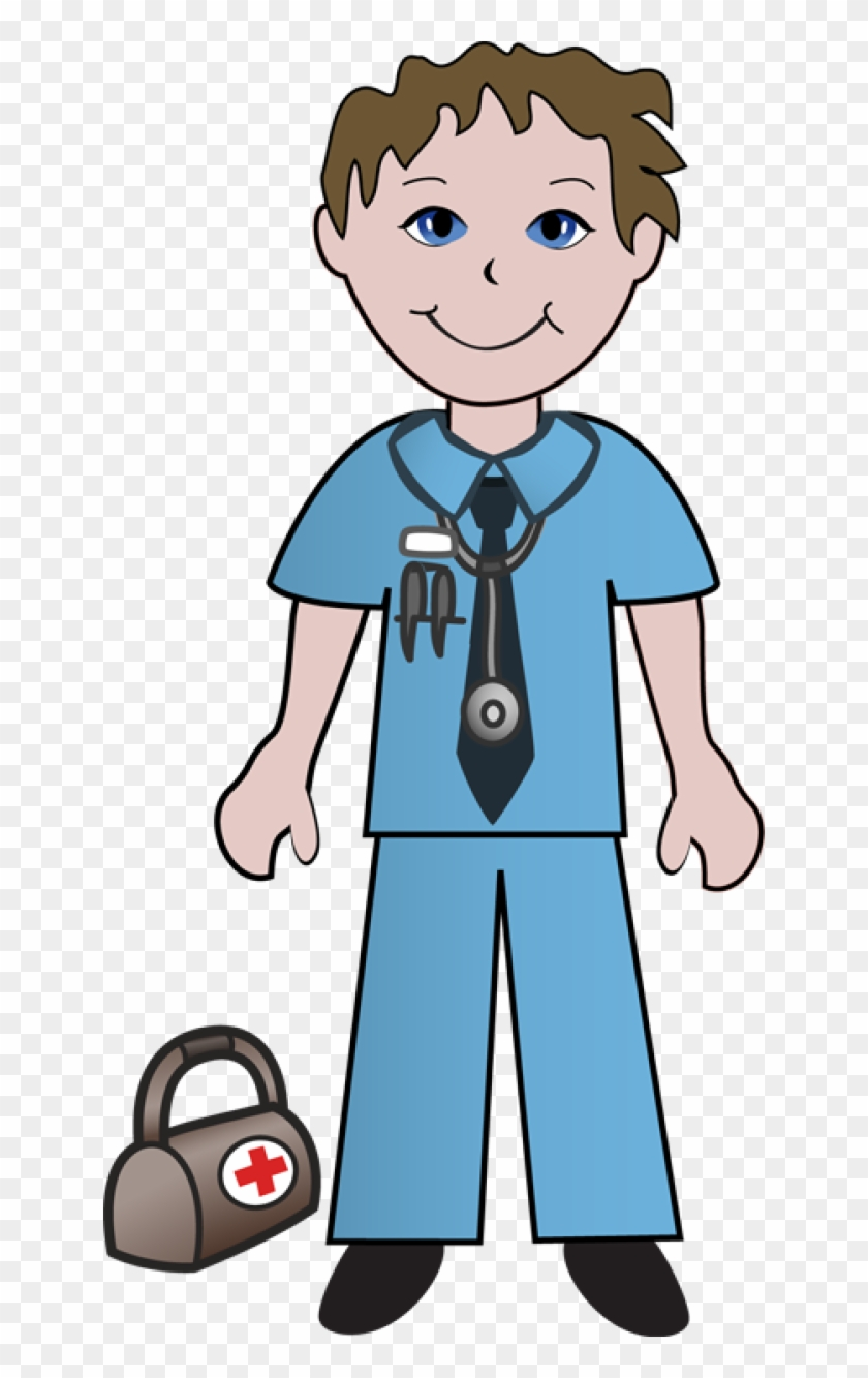 Clipart Of Doctor, Doctors And Ready - Male Nurse Clipart #287688