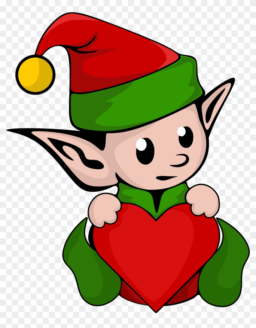 Clipart - Elf With Heart #287706