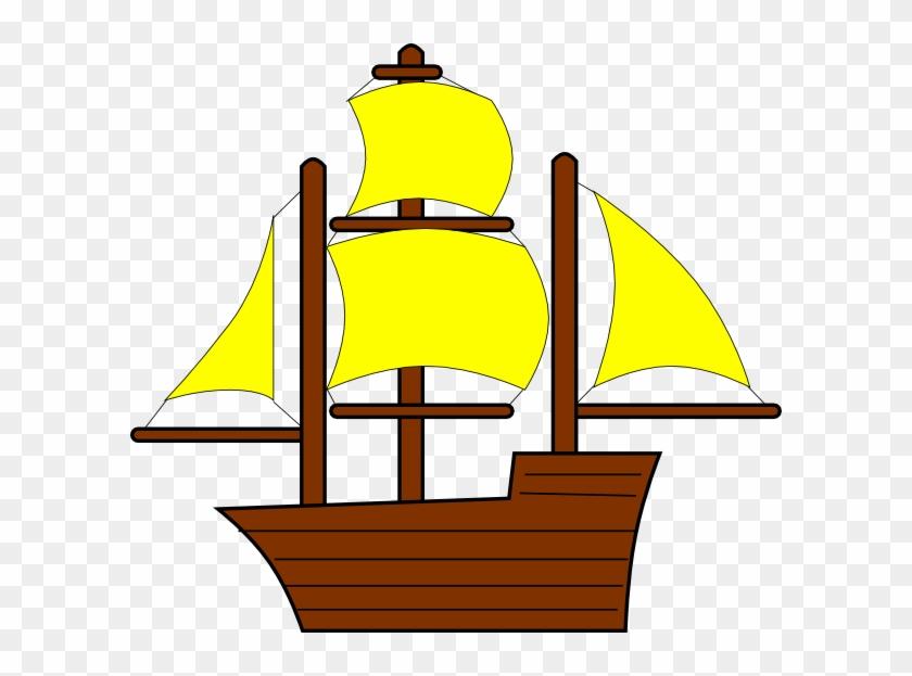 Yellow Pirate Ship Clip Art At Clker - Ship Clip Art #287710