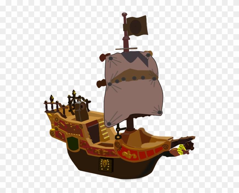 Pirate Ship 2 Clip Art - Writing Prompts For 3 Grades #287716