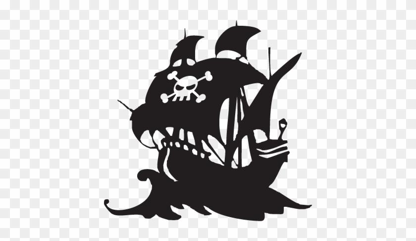 Pirate Ship Silhouette Png - Pirate Ship Logo Png #287735