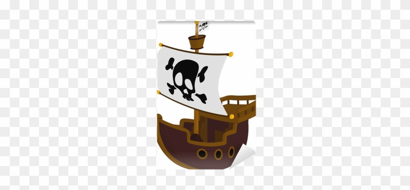 Pirate Ship Isolated On A White Background - Ship #287764