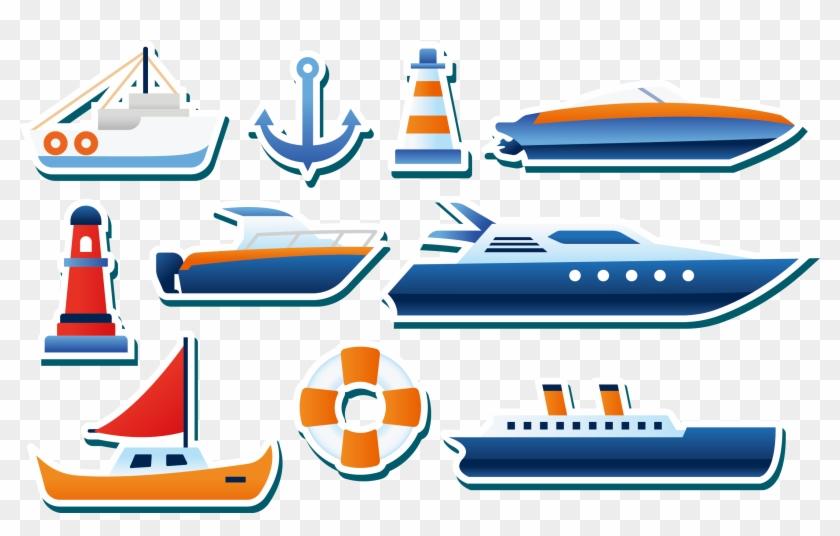 Yacht Euclidean Vector Sticker Clip Art - Yacht Euclidean Vector Sticker Clip Art #287781