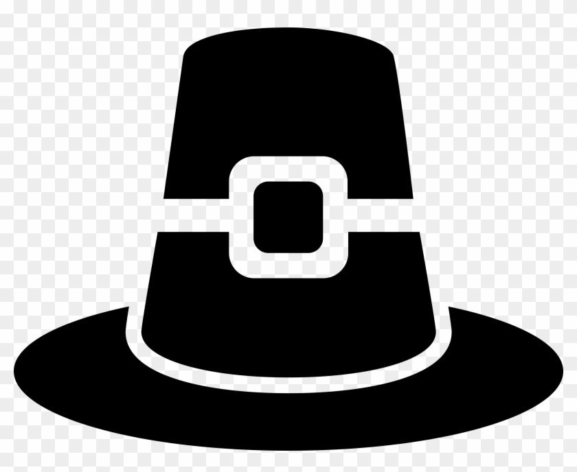 Hat Clipart Pilgram - Thanksgiving Silhouettes #287838