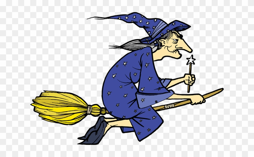 Witches - Old Witch On A Broom #287945