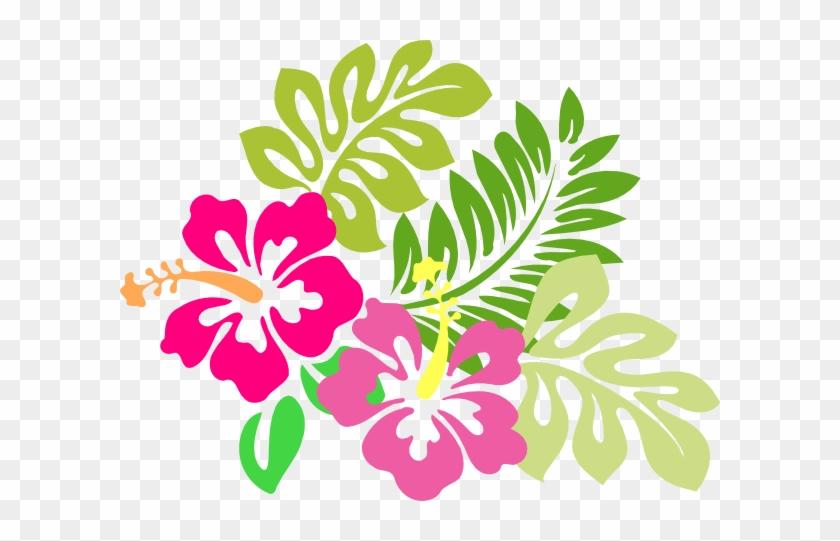 Free Clip Art April Showers Clipart - Tropical Flower Clip Art #287955