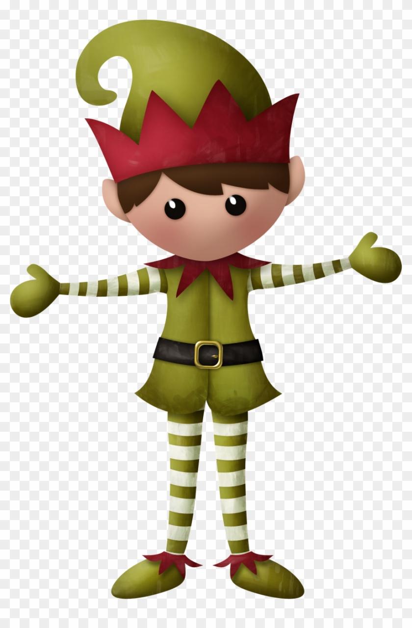 Merry Christmas Clipart Elf - Duendes De Santa Png #287959