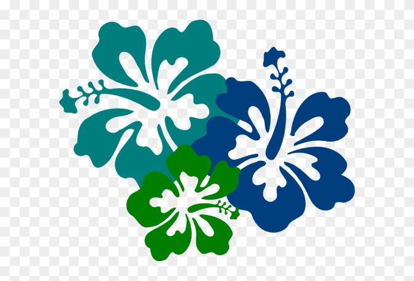 Hibiscus Teal & Green Svg Clip Arts 600 X 490 Px - Hibiscus Clip Art #287974