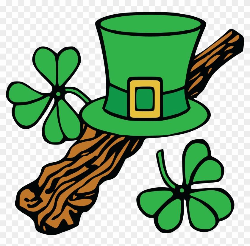 Free Clipart Of A St Patricks Day Leprechaun Hat And - Clip Art St Patricks #287984
