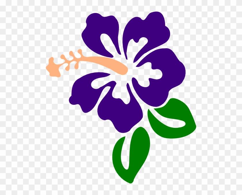 This Free Clip Arts Design Of Purple Hibiscus - Purple Hibiscus Clip Art #287986