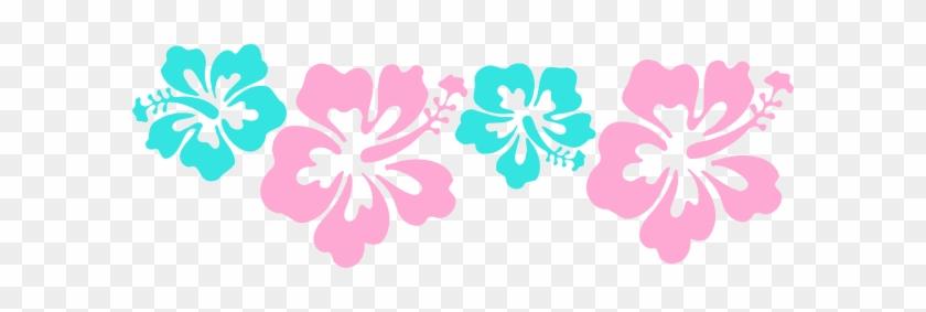 Hibiscus Clipart Aqua - Blue And Pink Hibiscus Clipart #287994