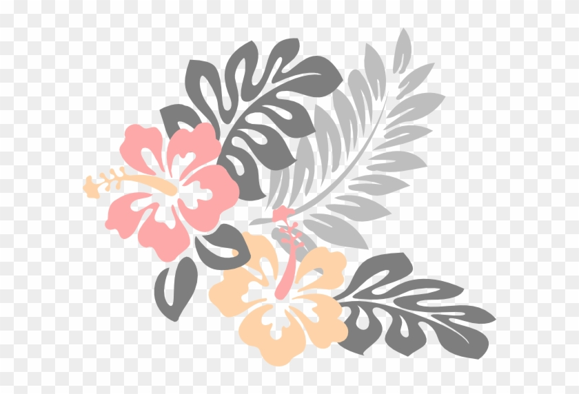 This Free Clip Arts Design Of Hibiscus Flower - Hawaiian Flower Clipart #288031