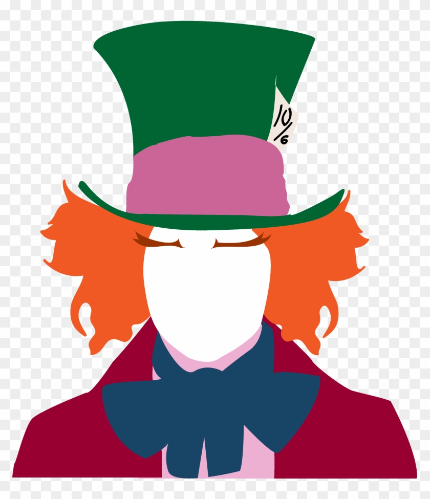 Mad Hatter By Hachiwara - Mad Hatter Silhouette Png #288083