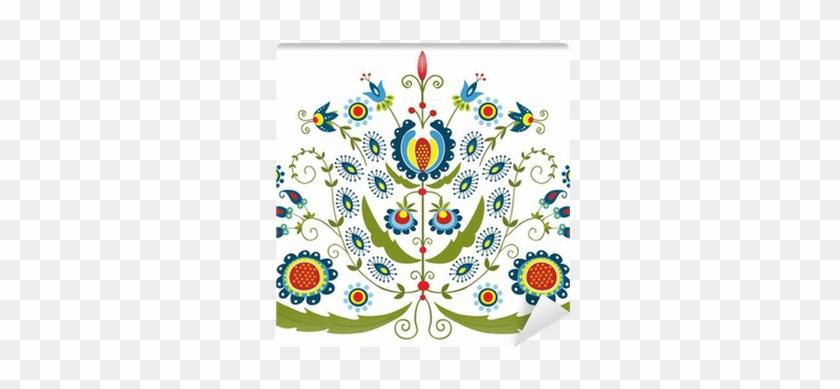 Fotomural Patrón Polaco Con Flores Decorativas • Pixers® - Stock Photography #288155