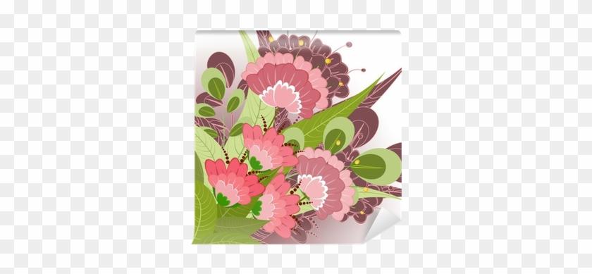 Fotomural Romántica Floral De Flores Decorativas • - Flower #288169