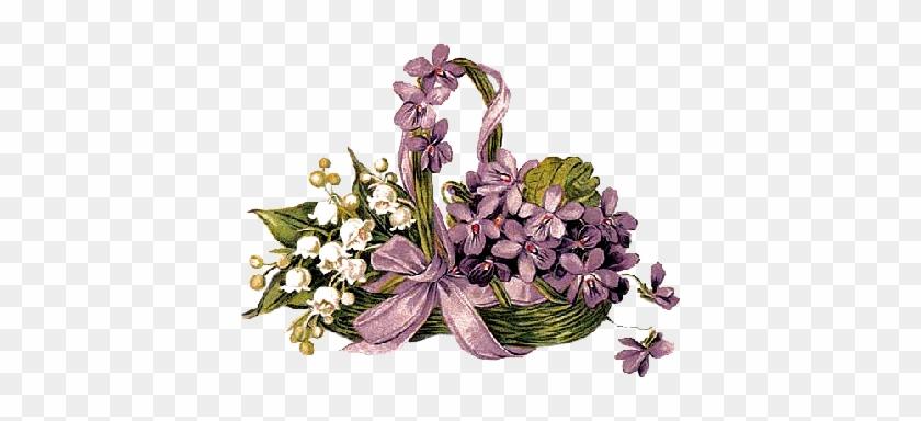 Fiołki W Stylu Vintage Do Transferów - Flower #288184