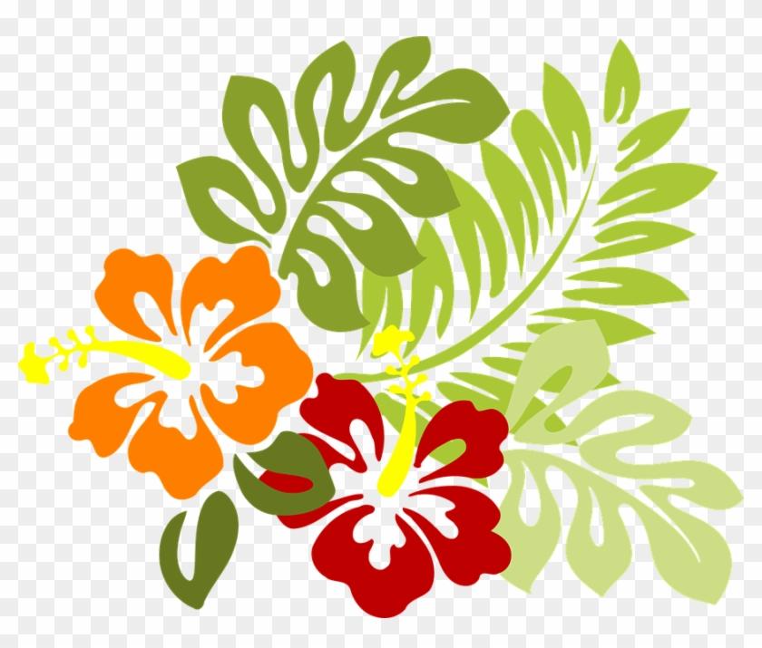Hawaiian Luau Clipart 13, - Hibiscus Clipart #288189