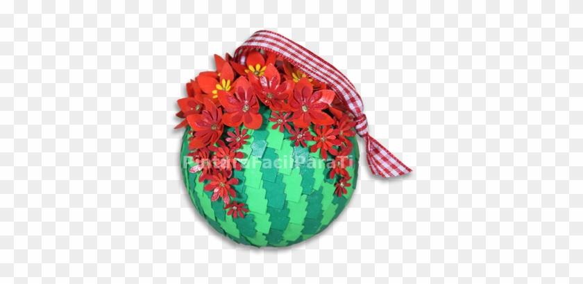 Hoy Seguimos Haciendo Adornos De Navidad Y Quiero Mostrarte - Bolas De Navidad Con Flores #288198