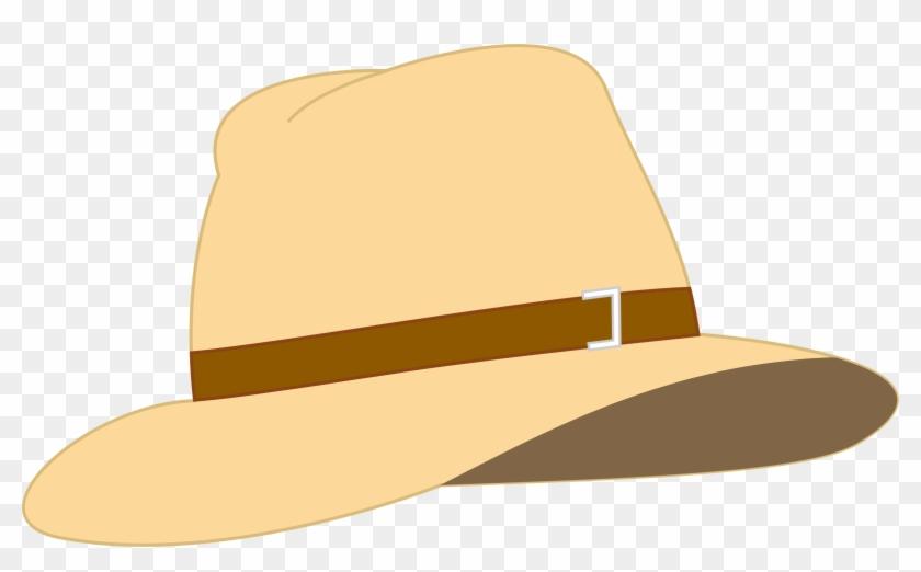 Beige Fedora Hat - Vacation Hat Clip Art #288204