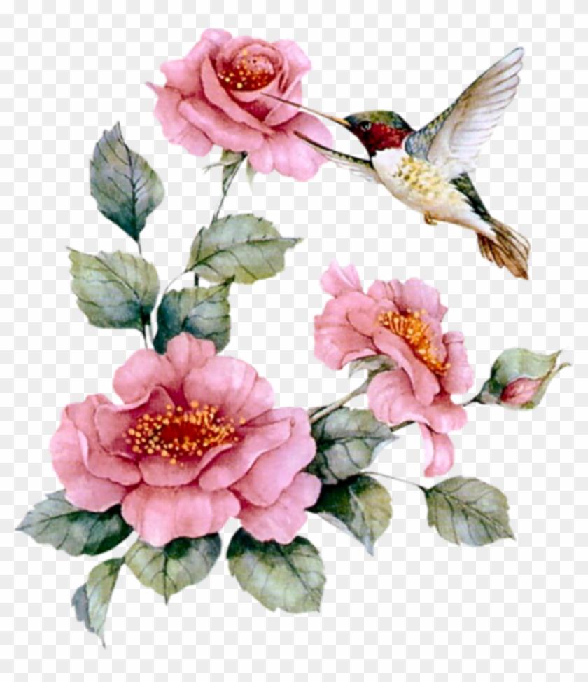 Aprender Manualidades Es Facilisimo - Hummingbird With Pink Roses Necklace ,bird Gifts #288207