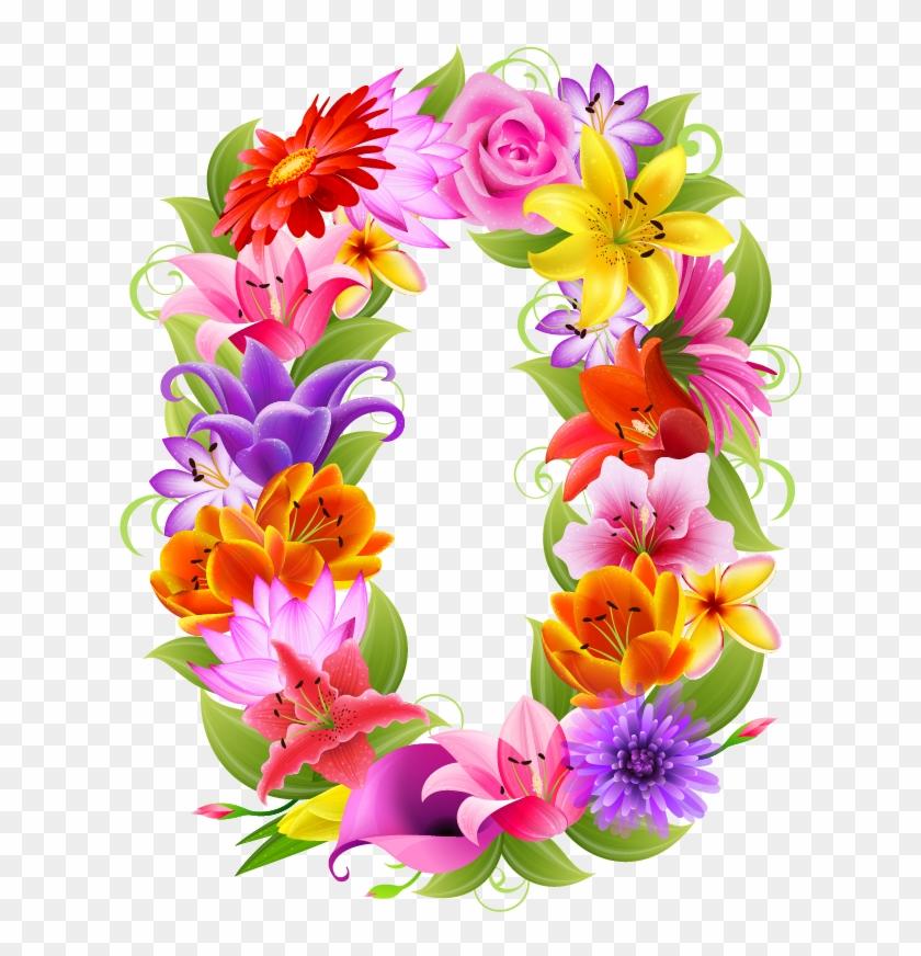 Letras Decorativas, Aniversarios, Papa, Números De - Numeros 1 Con Flores #288216