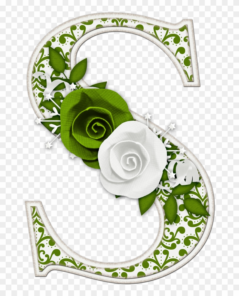 Letras Decorativasletras De Floresdiseños - Alphabet #288223