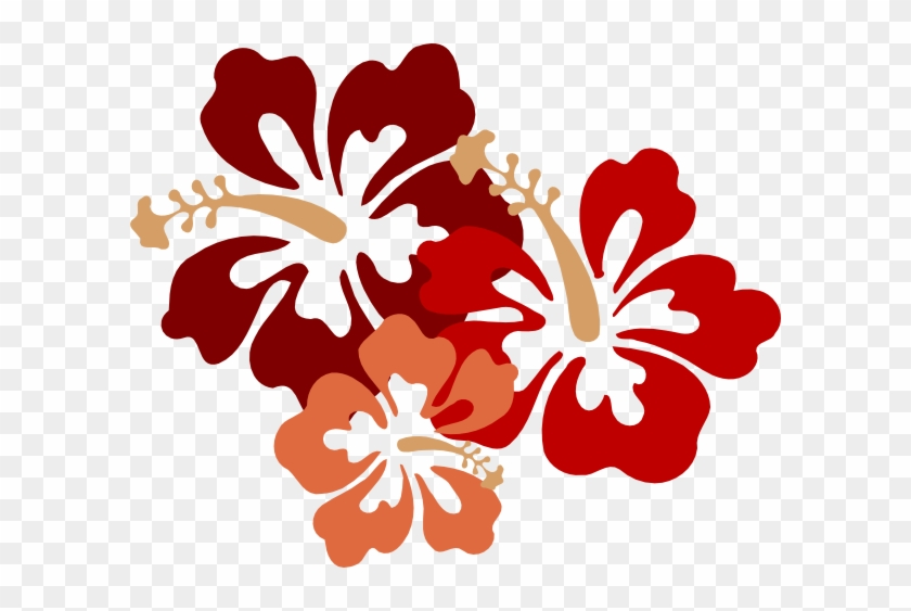 Hibiscus Big Red Clip Art At Clker - Clip Art Hawaiian Flower #288235