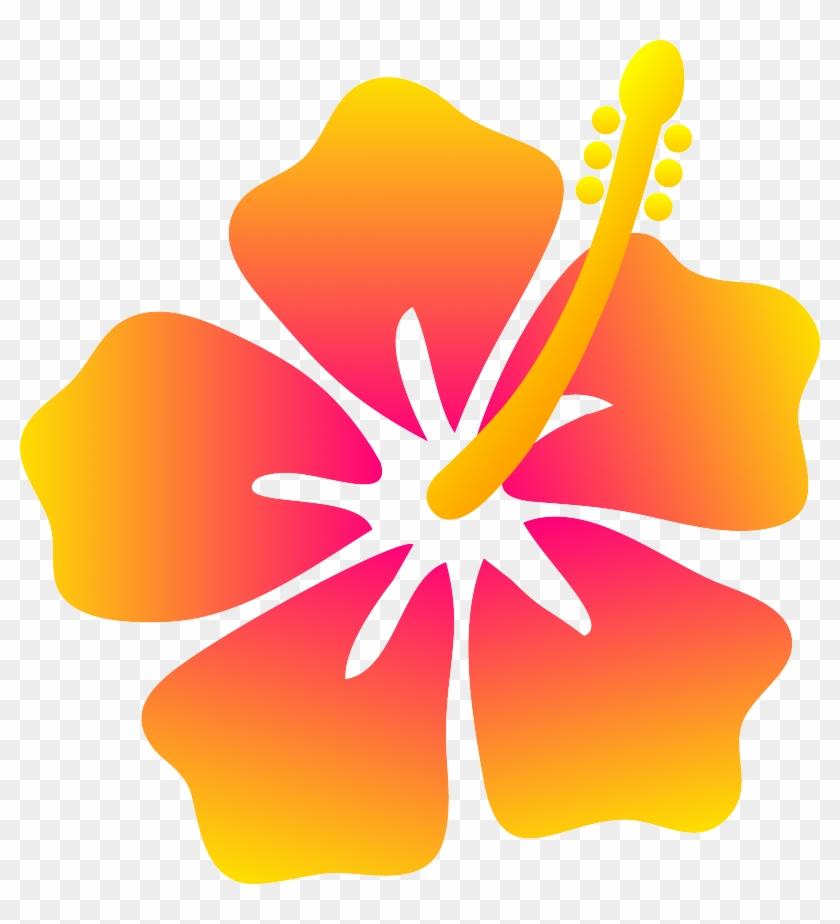 Free Flower Clipart Outline 26360 Free Flower Clip - Hawaiian Flower Clipart #288239