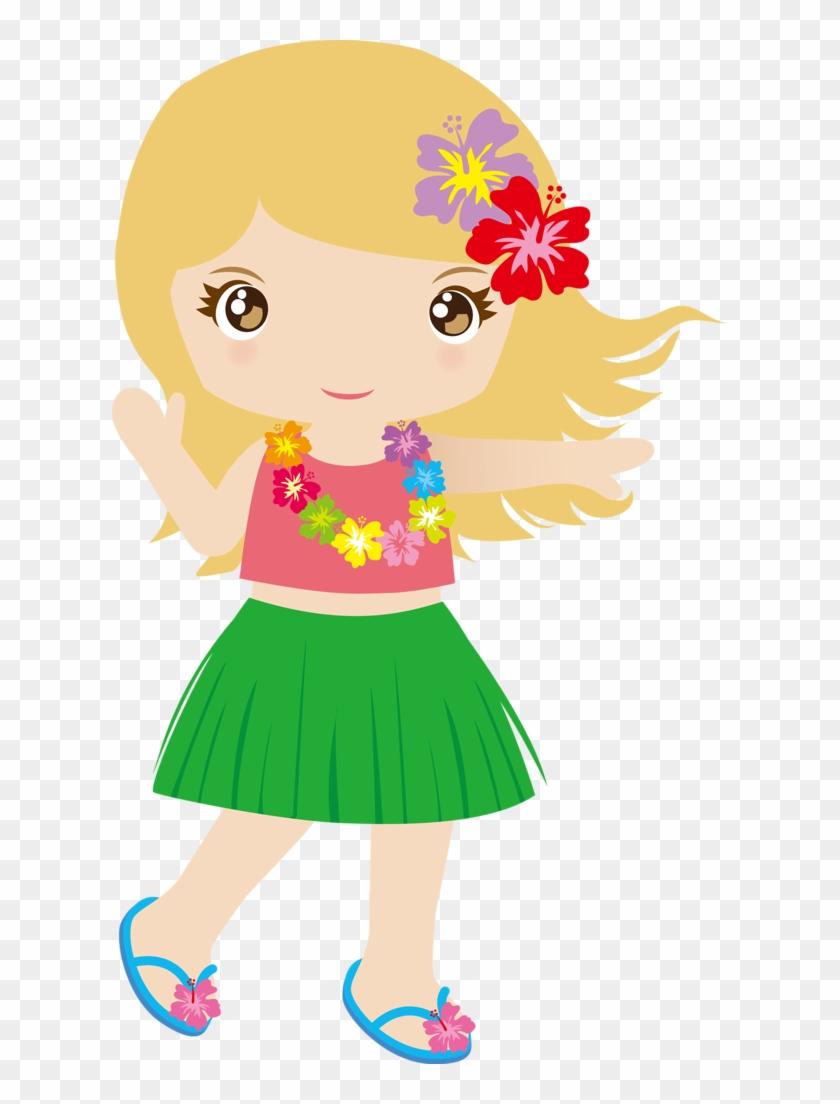 Cg050 04 - Niñas Hawaianas Dibujo #288252