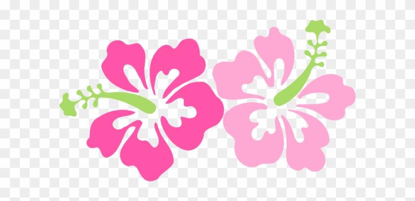 Pinky Hibiscus Clip Art At Clker - Hibiscus Clip Art #288259