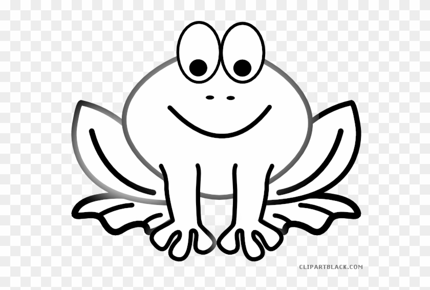 Black And White Frog Animal Free Black White Clipart - Coloring Animals #288265