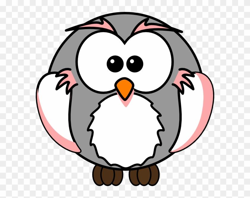 Grey Cartoon Owl #288266