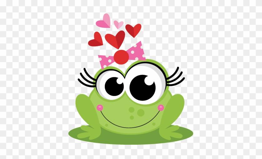 Frog In Love Svg Scrapbook Cut File Cute Clipart Files - Cute Girl Frog Cartoon #288272