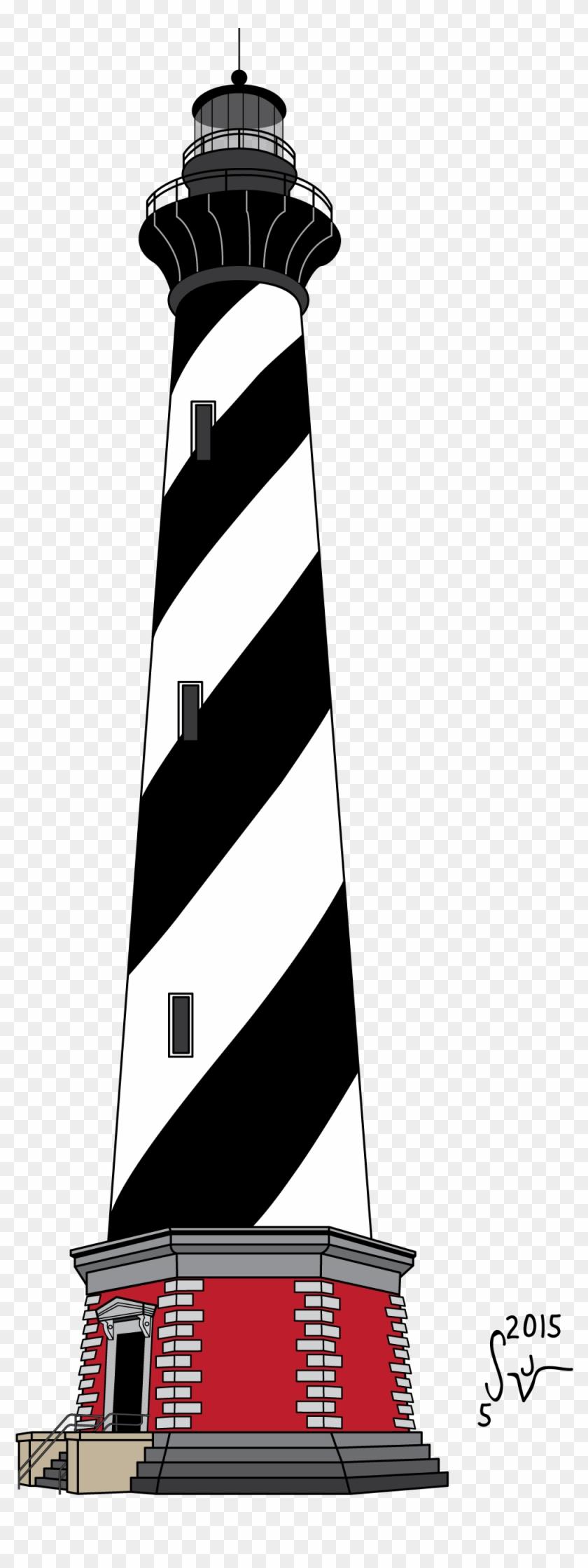 Cape Hatteras Lighthouse Clipart - Cape Hatteras Light #288275