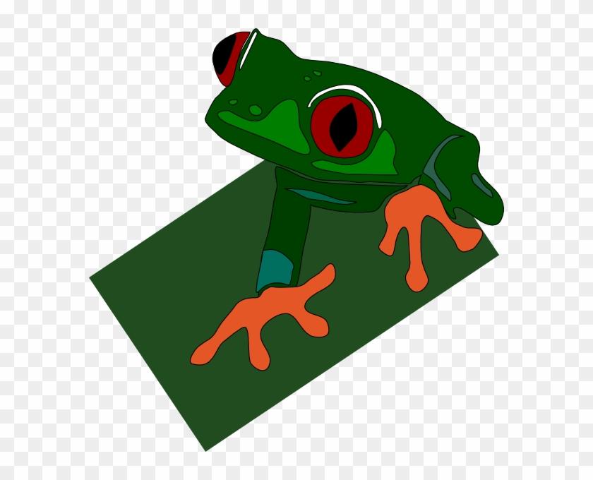 Red-eye Frog Clip Art Free Vector / 4vector - Frog Clip Art #288342