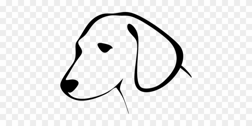 Animal Canine Dog Encouraging Pet Silhouet - Dog Line Art Face #288358