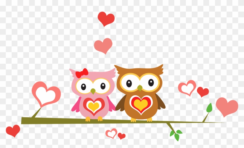 Love Cartoons Owl - Owl Couple Png #288387